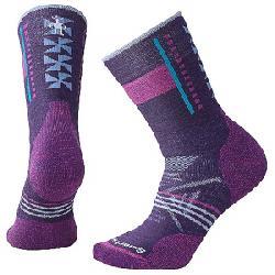 Smartwool Women's PhD Outdoor Medium Pattern Crew Sock Mountain Purple