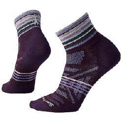 Smartwool Women's PhD Outdoor Ultra Light Pattern Mini Sock Bordeaux