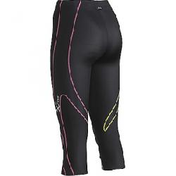CW-X Women's 3/4 Expert Tight Black / Yellow Grey Pink