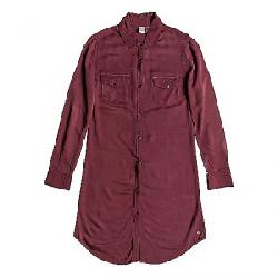 Roxy Women's Tomini Bay View Shirt Dress Oxblood Red
