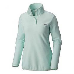 Columbia Women's Harborside Overlay Fleece Pullover Sea Ice / Sea Ice Gingham