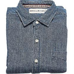 The Normal Brand Men's Johathan Indigo Double Cloth Shirt Indigo
