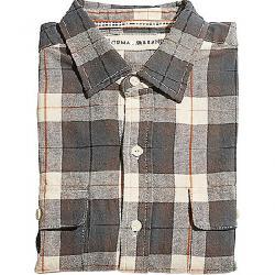 The Normal Brand Men's Bernard Flannel Shirt Grey / White