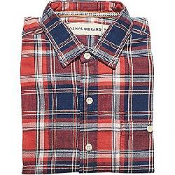 The Normal Brand Men's Leland Indigo Twill Plaid Shirt Indigo
