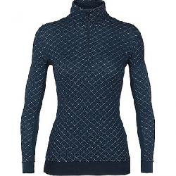 Icebreaker Women's Affinity Thermo LS Half Zip Top Eclipse Heather
