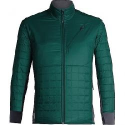 Icebreaker Men's Helix LS Zip Jacket Dark Pine / Monsoon