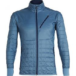 Icebreaker Men's Helix LS Zip Jacket Granite Blue / Midnight Navy
