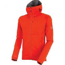 Mammut Men's Ultimate V SO Hooded Jacket Dark Orange / Titanium Melange