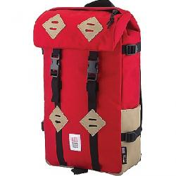 Topo Designs Klettersack Pack Red / Khaki Leather