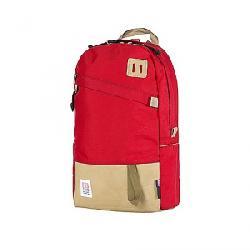 Topo Designs Daypack Red / Khaki Leather
