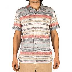 Gramicci Men's Sunset Plaid SS Shirt Still Water Blue