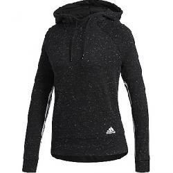 Adidas Women's Sport2Street Pullover Hoody Black Melange / White