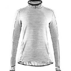 Craft Women's Sweep Grid Turtleneck LS Top Grey Melange