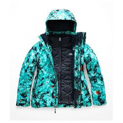 The North Face Women's Garner Triclimate Jacket Transantarctic Blue Snowfloral Print