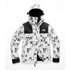 The North Face Women's 1990 Mountain GTX Jacket TNF White Broken Grid Logo Print