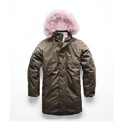 The North Face Kid's Arctic Swirl Down Jacket New Taupe Green