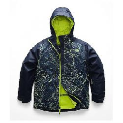 The North Face Kid's Brayden Insulated Jacket Lime Green Granite Print