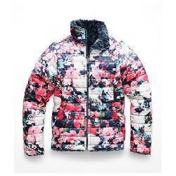 The North Face Girls' Reversible Mossbud Swirl Jacket Atomic Pink Digi Floral Print