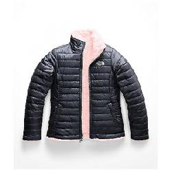 The North Face Girls' Reversible Mossbud Swirl Jacket Periscope Grey