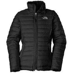 The North Face Girls' Reversible Mossbud Swirl Jacket TNF Black