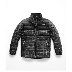 The North Face Boys' Reversible Mount Chimborazo Jacket TNF Black Reflective Grid