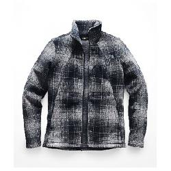 The North Face Women's Crescent Full Zip Top Mid Grey Ombre Plaid Small Print