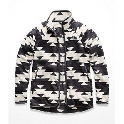 The North Face Women's Glacier Alpine Stripe-Print Full Zip Top Peyote Beige California Basket Print