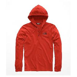 The North Face Men's Heavy Weight 1/4 Snap Hoodie Caldera Red