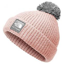 The North Face Kid's Box Logo Pom Beanie Purdy Pink / High Rise Grey