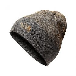 The North Face Stripe Logo Beanie Asphalt Grey / Golden Brown