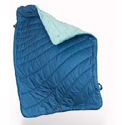Rumpl Fleece Puffy Throw Blanket Deepwater Blue / El Cap Grey