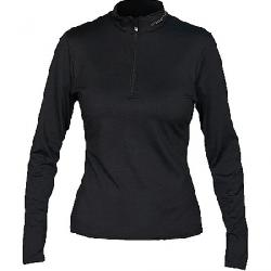 Hot Chillys Women's Micro Elite Chamois 8K Solid Zip T Black