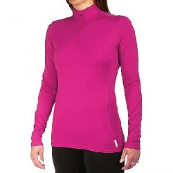 Hot Chillys Women's Micro Elite Chamois 8K Solid Zip T Fuchsia