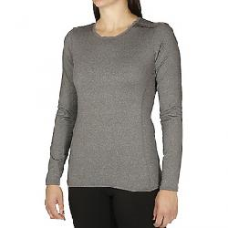 Hot Chillys Women's Micro-Elite Chamois 8K Crewneck Top Granite