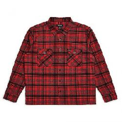 Brixton Men's Archie Long Sleeve Flannel RED/BLACK COMBO
