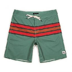 Brixton Men's Barge Stripe Swim Trunk Jade