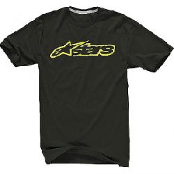 Alpine Stars Men's Blaze 2 Tee Black / Acid Yellow