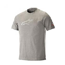 Alpine Stars Men's Ageless Tech Tee Melange Steel Grey / White