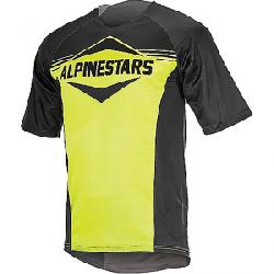 Alpine Stars Men's Mesa SS Jersey Black / Acid Yellow