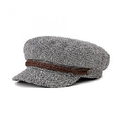 Brixton Fiddler Cap HEATHER GREY/CREAM