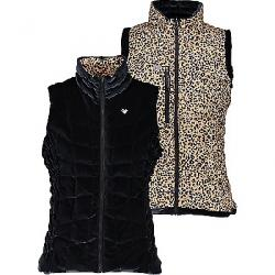 Obermeyer Women's Soleil II Reversible Down Vest Safari Leopard