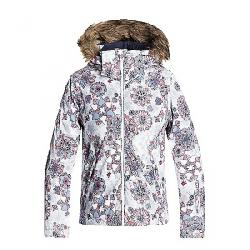 Roxy Girls' American Pie Jacket Bright White / Snowflakes