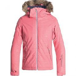Roxy Girls' American Pie Embossed Jacket Shell Pink / Indie Stripes Emboss