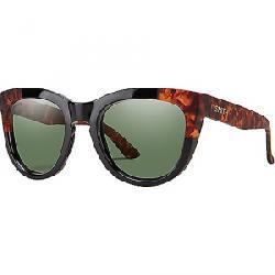 Smith Women's Sidney ChromaPop Polarized Sunglasses Black Havana Block / Polarized Grey Green