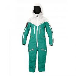 Oneskee Women's Mark IV Ski Suit Green / Vintage White