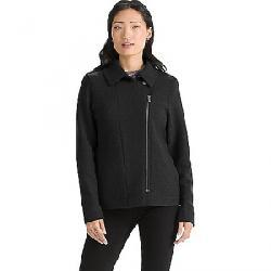 Nau Women's Boiled Wool Moto Jacket Caviar