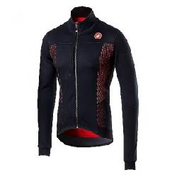 Castelli Men's Espresso V Jacket Light Black / Red