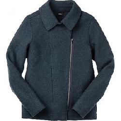 Nau Women's Boiled Wool Moto Jacket Navy