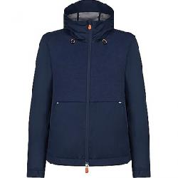 Save The Duck Womens Hooded Lightweight Mid-length Jacket Navy Blue
