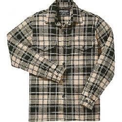 Filson Men's Deer Island Jac-Shirt Dark Cream / Green Plaid